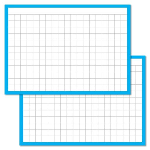 Checkered Blue Leitner flashcards A7 size