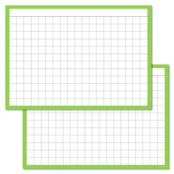 Checkered Light Green Leitner flashcards A7 size
