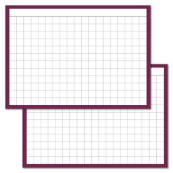 Checkered Purple Leitner flashcards A7 size