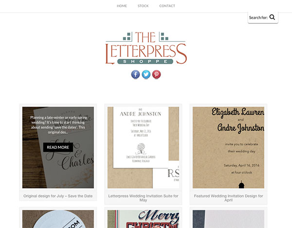 Web Development: The Letterpress Shoppe