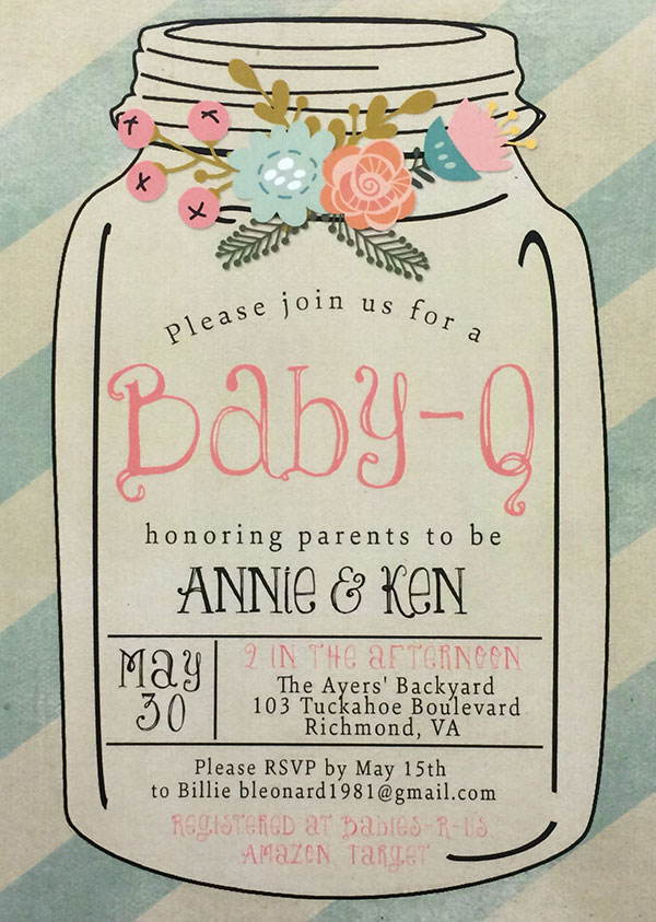 Flash Digital Baby Shower Invitation