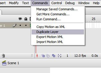 Imagem da extensão de duplicar camadas no Flash