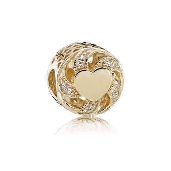 PANDORA - Charm Coração Radiante de Ouro R$ 1.400,00