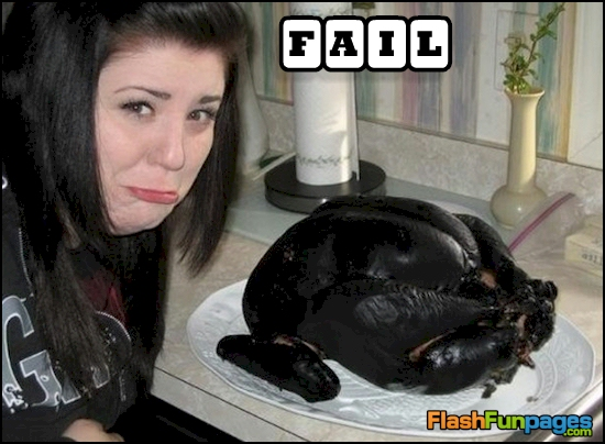 Extremely Overcooked Turkey Ecards For Facebook