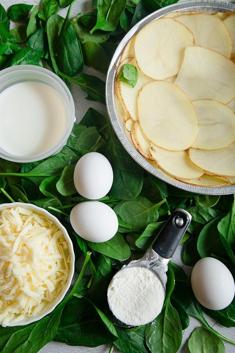 spinach cheese quiche ingredients