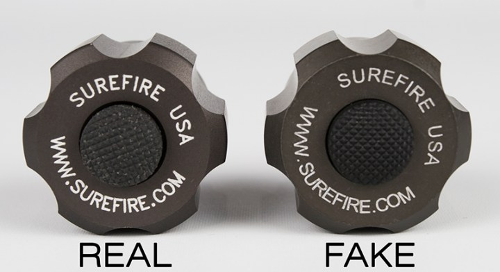 SureFire SW01 Real vs Fake