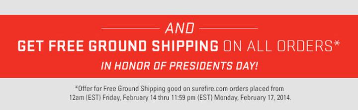 SureFire Free Shipping