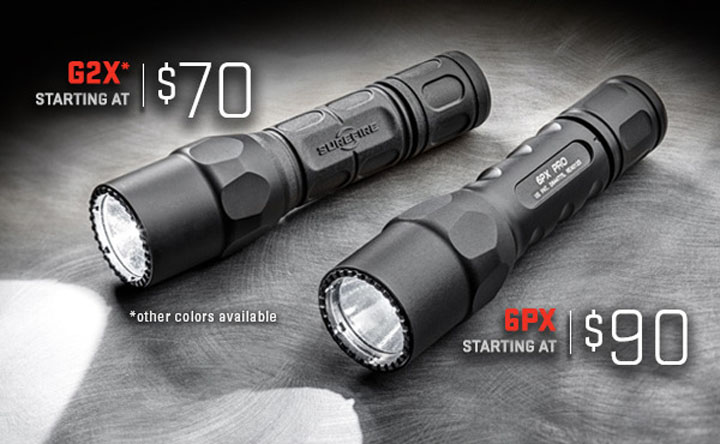 SureFire 6PX and G2X Lower Prices
