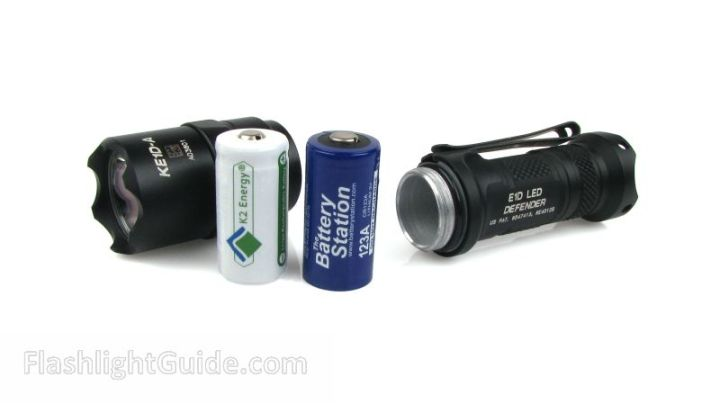SureFire E1D LED Defender with primary and rechargeable batteries