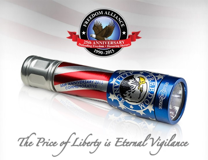 SureFire Freedom Alliance Commemorative Flashlight