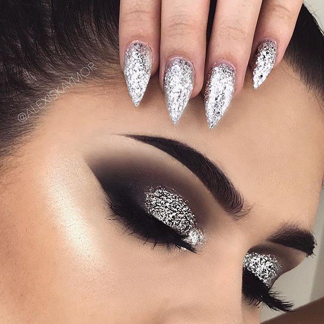 How To Do Smokey Silver Eye Makeup