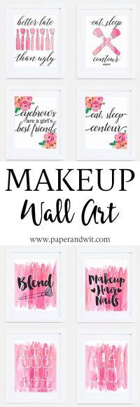Best Ideas For Makeup Tutorials : Makeup wall art - the ...