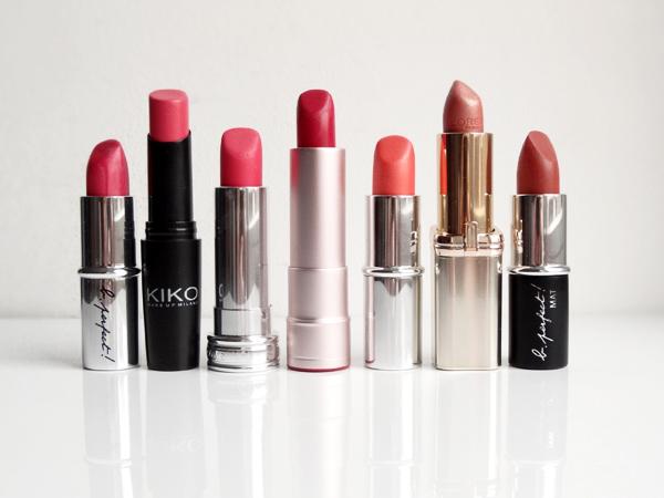 Quelques rouges à lèvres pour les peaux ayant un sous-ton chaud