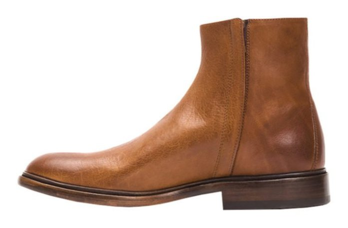 Bottines homme Ankle Chris Inside Zip Frye cuir marron