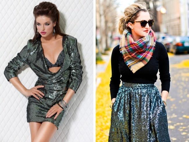 Les vêtements qui brillent ou à paillettes
