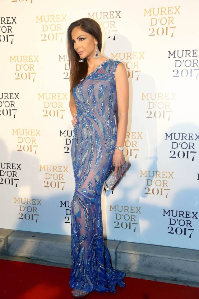 Murex D'or 2017 - look de Joelle Behlok sur tapis rouge
