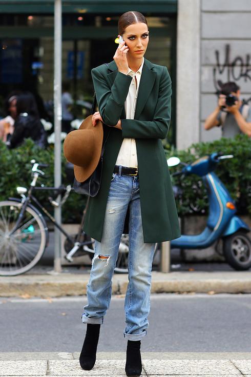 Street style pour femmes a Milan