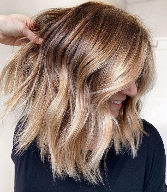 Honey Shades of Blonde Balayage Hair