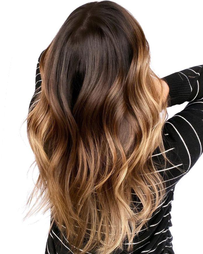 Ombre brune pour cheveux longs