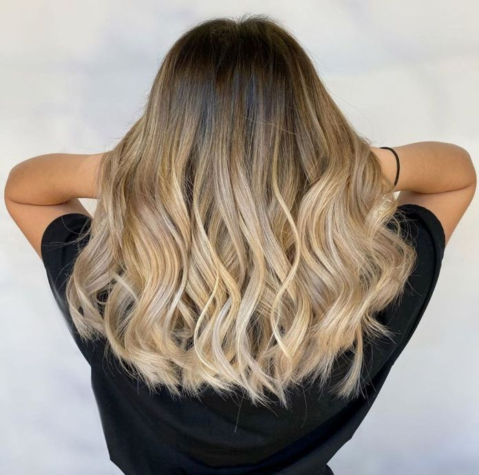 Coiffure Ombre Balayage Blonde