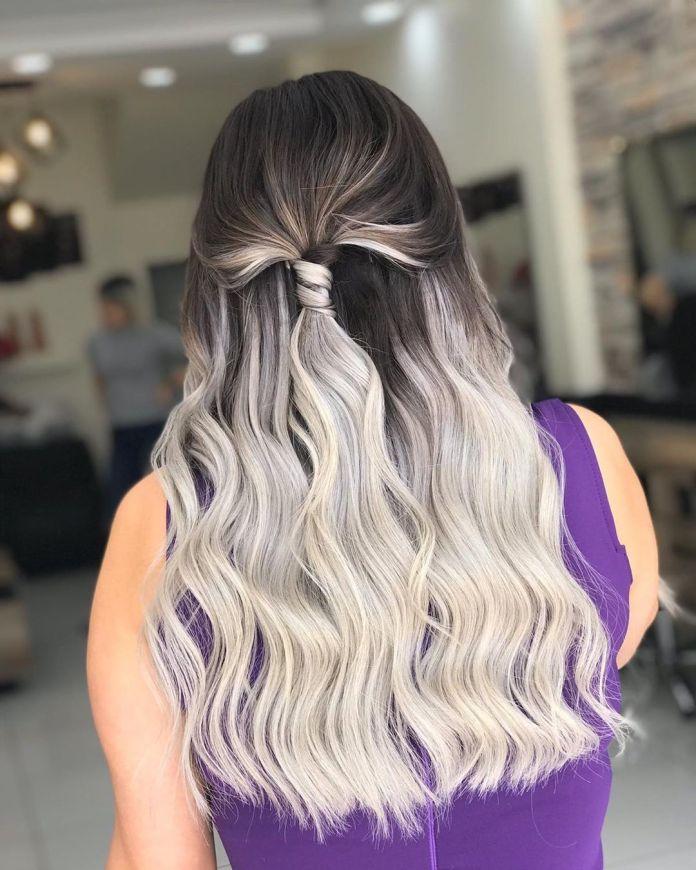 Ombre blanche pour cheveux foncés