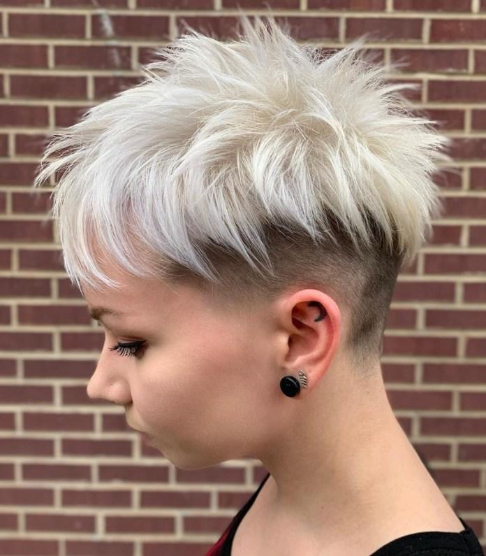 Pixie Undercut pour cheveux fins
