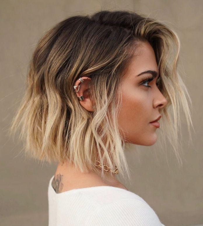 Ombre blonde pour cheveux courts