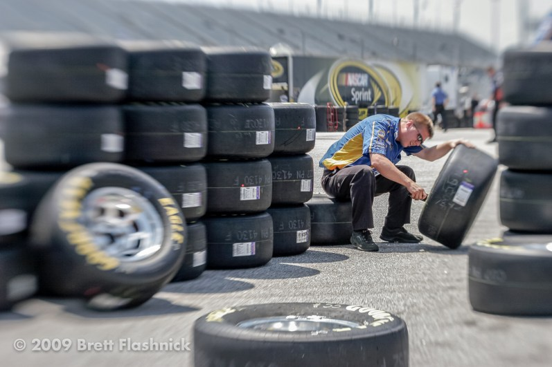 Before the 60th running of the Southern 500, for NASCAR Sprint Cup Series auto racing at Darlington Raceway on, Saturday, May 9, 2009, in Darlington, S.C. (AP Photo/Brett Flashnick)