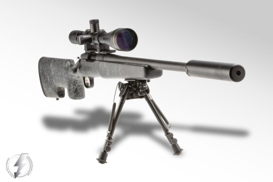 When mounted on a Remington 700 SPS Tactical, the Innovative Arms INTERCEPTOR™ 7.62 without the Exoskeleton™ Shroud gives excellent sound suppression, recoil reduction and precision accuracy in a sleek, compact package.