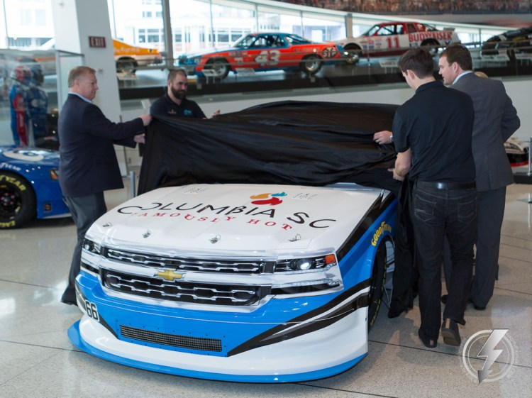 The #66 Columbia, SC Famously Hot Chevrolet Silverado is unveiled for the first time.