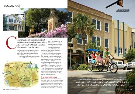 Columbia, SC for US Airways Magazine.