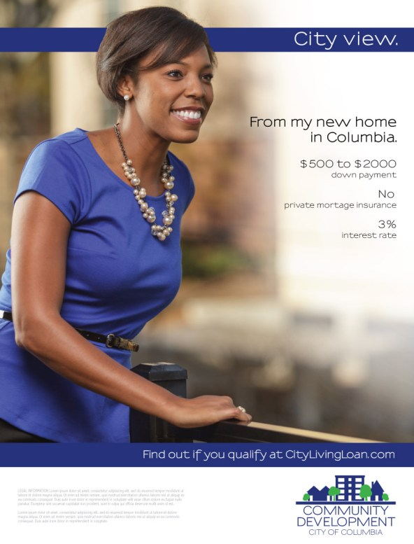 Ad Campaign for City of Columbia Housing.