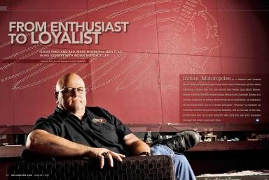 Portrait of dealership owner for Dealernews Magazine.