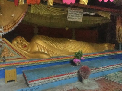 Reclining Buddha in the killing cave