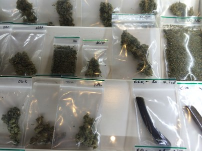 Selection of marijuana and hash