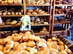 Fresh baked bread at Carmel Market