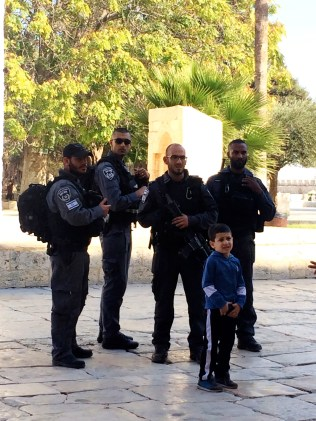 Israeli police at Temple Mount