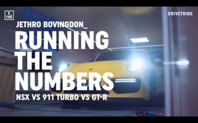 NSX, 911 e GT-R no banco de potência!