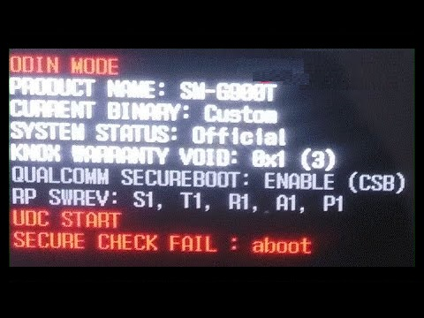 displaying secure check fail