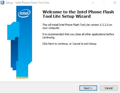 Download Intel Phone Flash tool