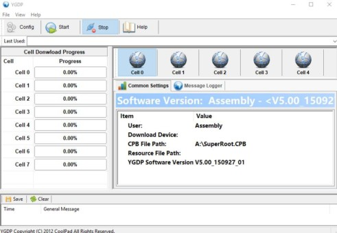 Flash CPB Firmware file using YDGP Tool