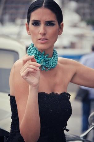 abito TAISA gioielli Marina Corazziari