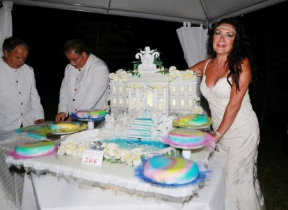 La torta monumentale offerta da Artistica Events Eventi d'Autore e da Eleonora Altamore Fashion e Luxury