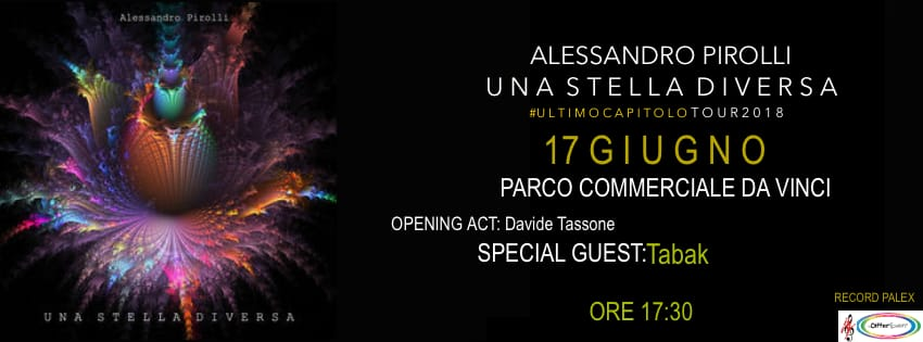 """Alessandro Pirolli  porta la sua """"Una Stella Diversa In Tour"""" in versione special edition"""