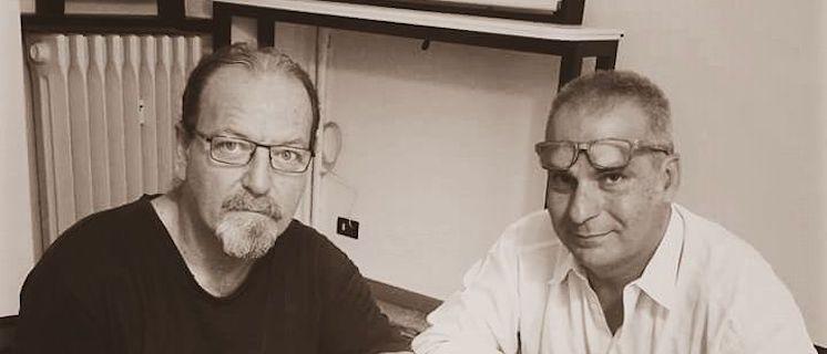 Flavio Oreglio e Luca Bonaffini premiati per trent'anni di Carriera Musicale a Spazio D'Autore 2018