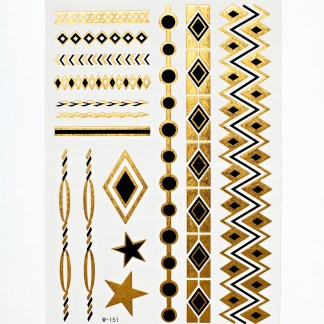 Flash Tattoos - Black n 'Gold