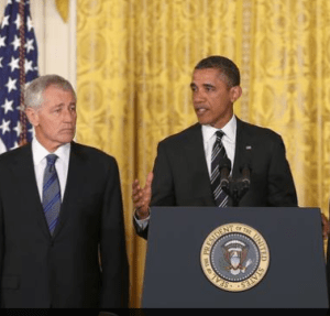 The President has nominated fmr Sen. Chuck Hagel to be Secretary of Defense.