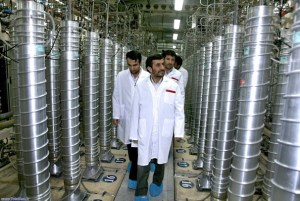 President Ahmadinejad touring Iran's nuclear facilities.