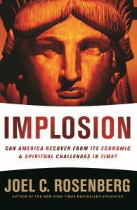 This is the cover of the paperback version of Implosion.