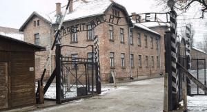 Main entrance to Auschwitz (photo credit: CC BY-SA Tulio Bertorini/Times of Israel.)